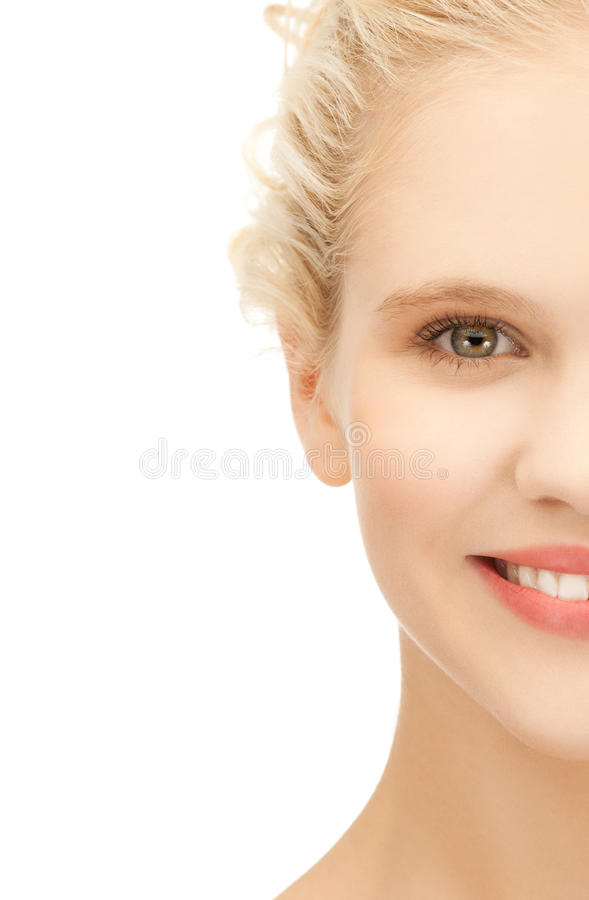 Clean face of beautiful girl stock photography
