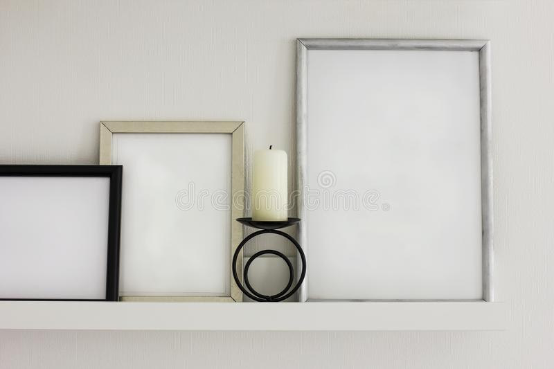 Clean frames for text, details of the modern interior. The Clean frames for text, details of the modern interior stock photography