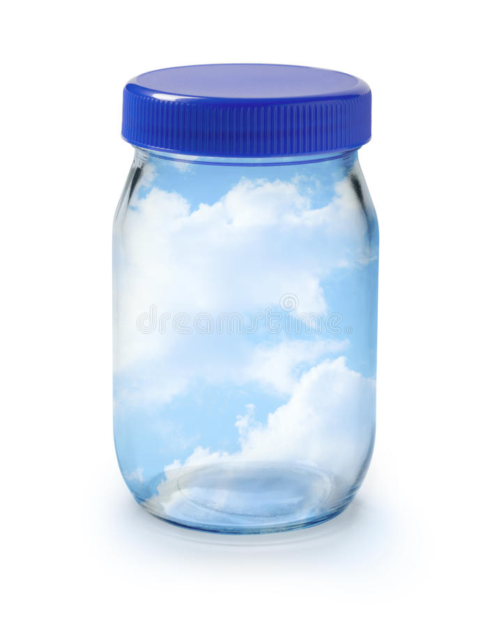 Clean Fresh Air Sky Jar stock images