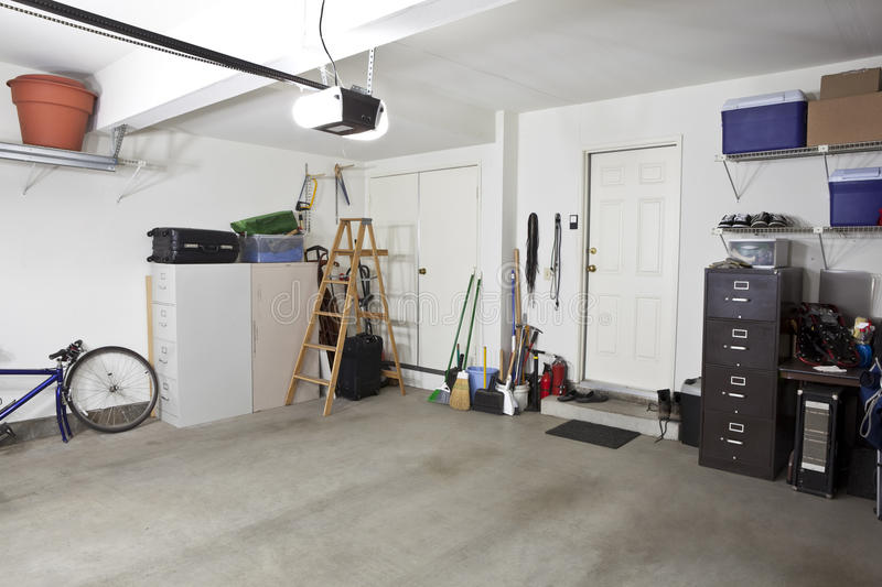 Download Clean Garage stock image. Image of mess, door, storage - 21555617