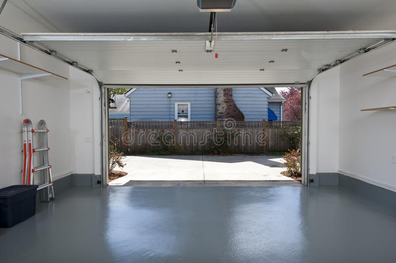Download Clean garage stock image. Image of floor, interior, door - 71572095