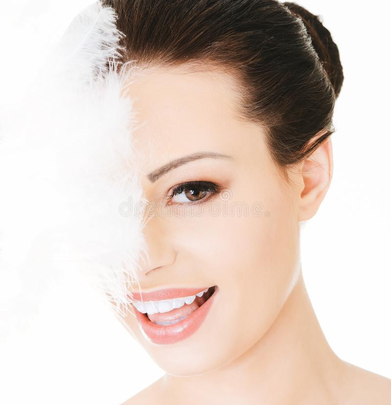 Clean and gentle complexion royalty free stock photo