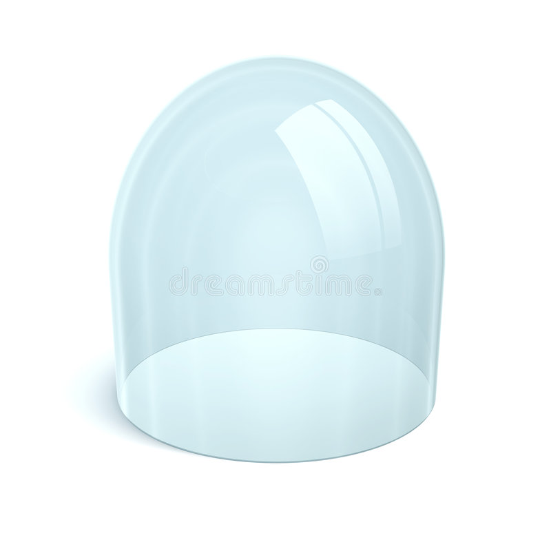 Clean glass dome royalty free illustration