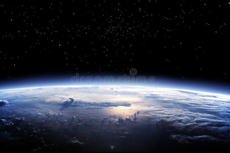 Download Clean Horizon Of Earth From Space Stock Illustration