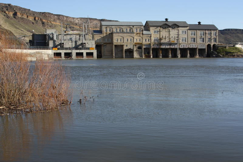 Clean Hydroelectricity. Clean and environmentally friendly electric power royalty free stock images