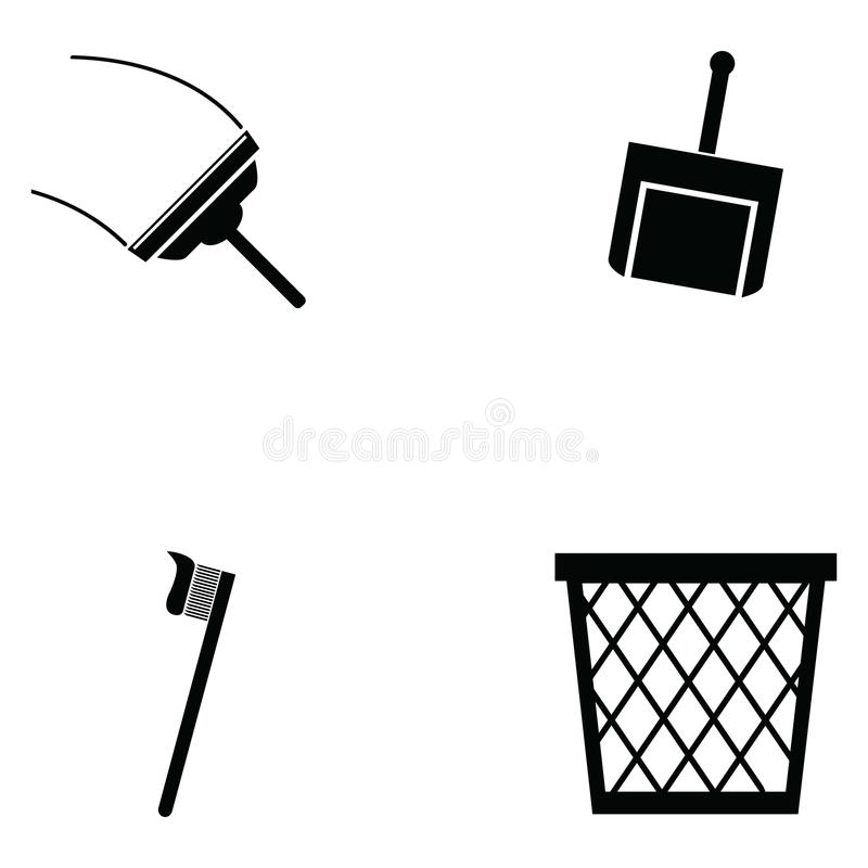The clean icon vector illustration