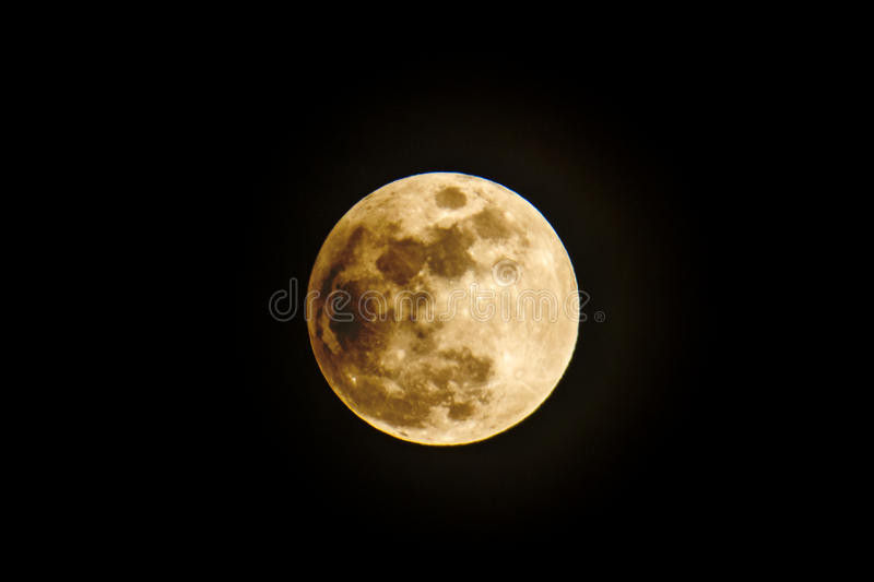 A Clean Isolated Moon stock photography