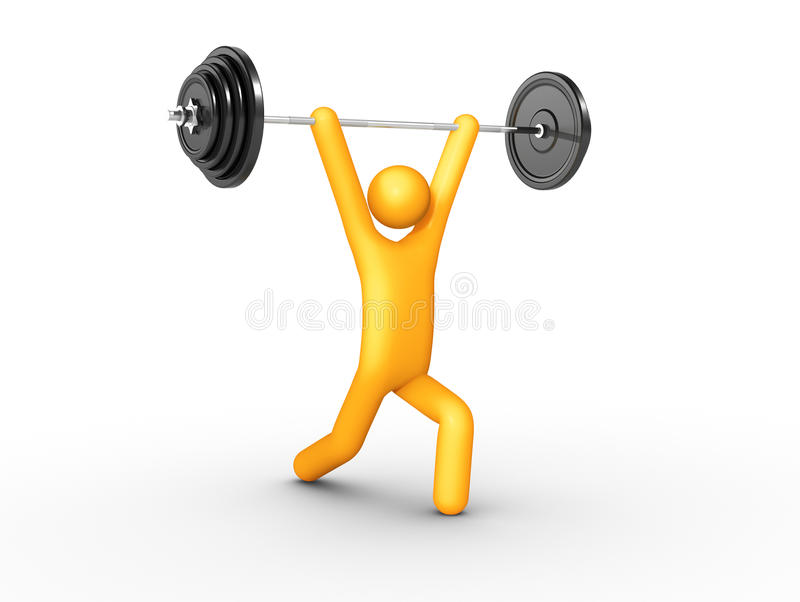 Clean And Jerk Royalty Free Stock Photos