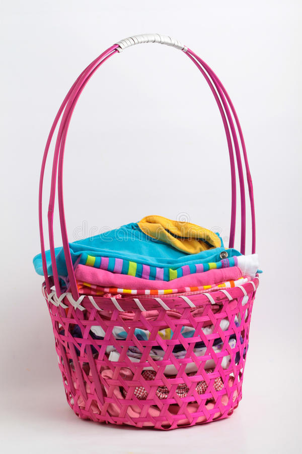Download Clean Laundry In A Fancy Busket Stock Image - Image: 23815375