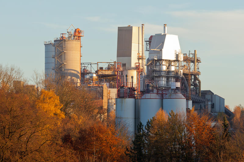 Clean lime factory plant forest Wulfrath Germany royalty free stock images