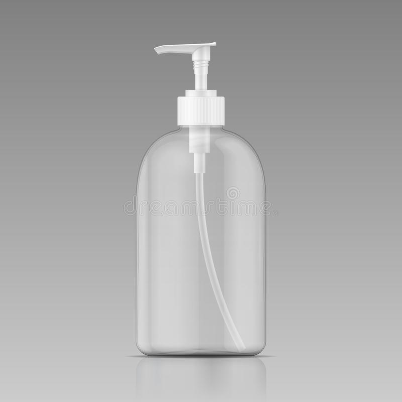 Clean liquid soap bottle template. royalty free illustration