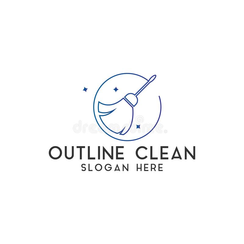 Clean logo design template vector isolated. Illustration royalty free stock photo