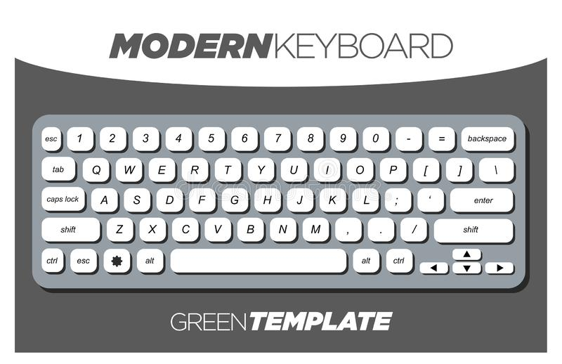 Clean and Minimalistic Keyboard Template for Apps and Websites royalty free illustration