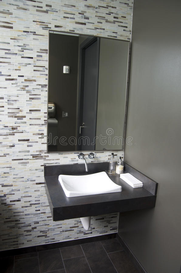 Clean modern bathroom stock images