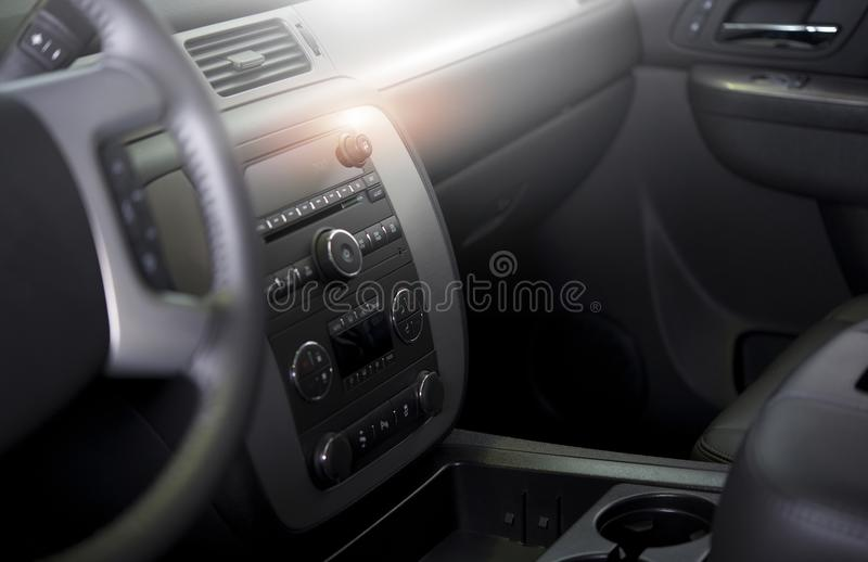 Clean Modern Car Interior. Car Wash and Vehicle Interior Cleaning and Detailing Photo Concept stock images