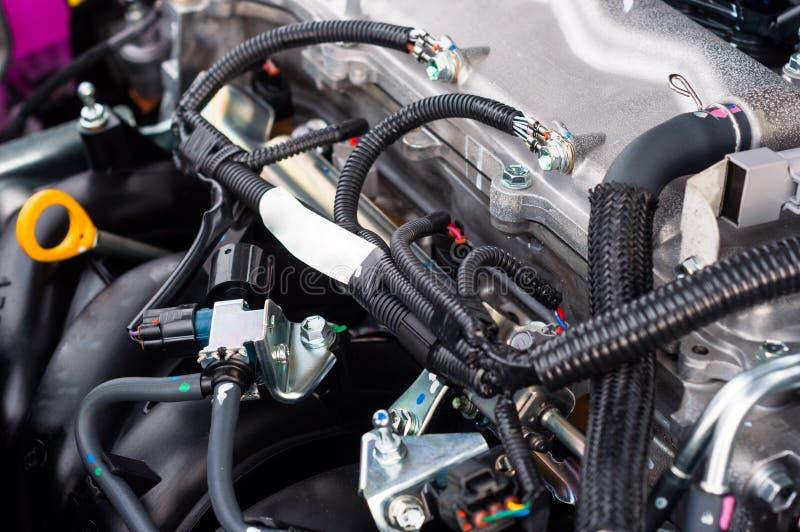A Clean Motor Block Stock Photo