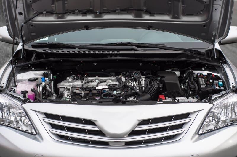 Clean motor block inside a car royalty free stock photo