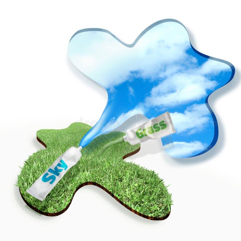 clean nytt gräs för luft stock illustrationer