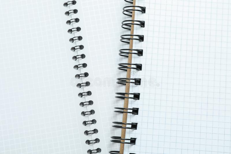 Clean office copybooks as background. Space for text royalty free stock photos