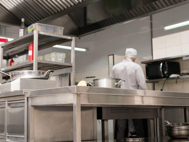 Modern restaurant kitchen interior workplace stock photography