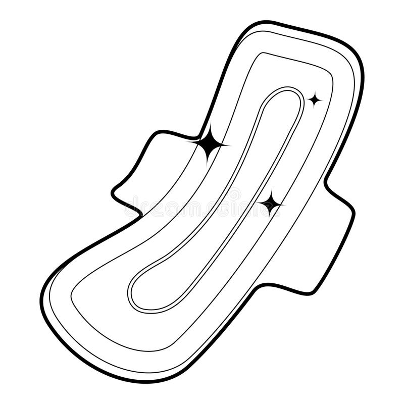 Clean pad icon outline royalty free illustration