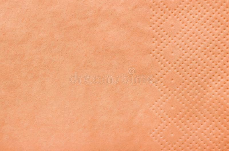 Clean paper napkin as background. Top view royalty free stock image