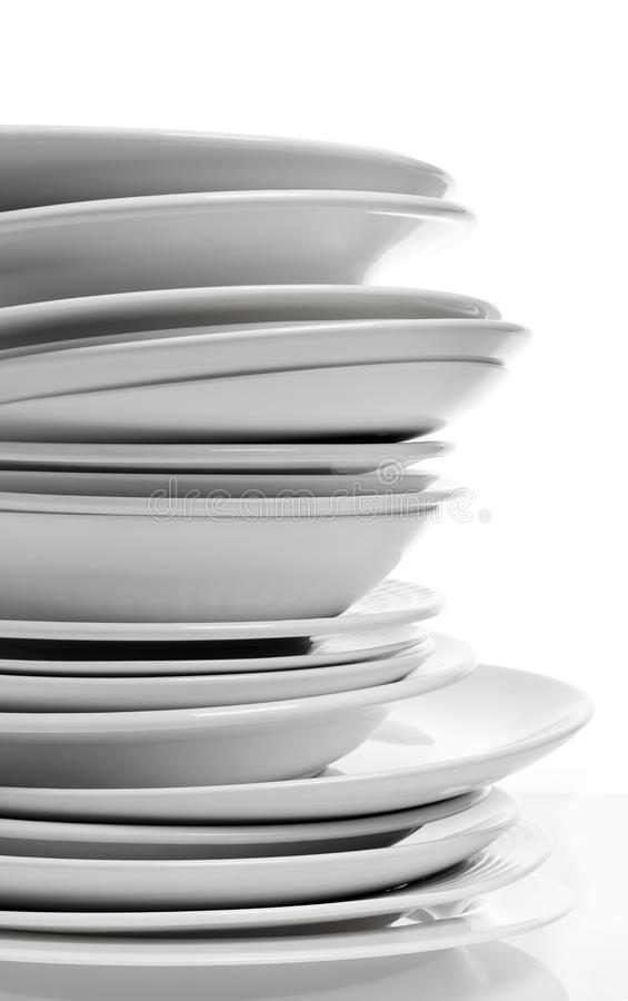 Clean plates close-up royalty free stock photo
