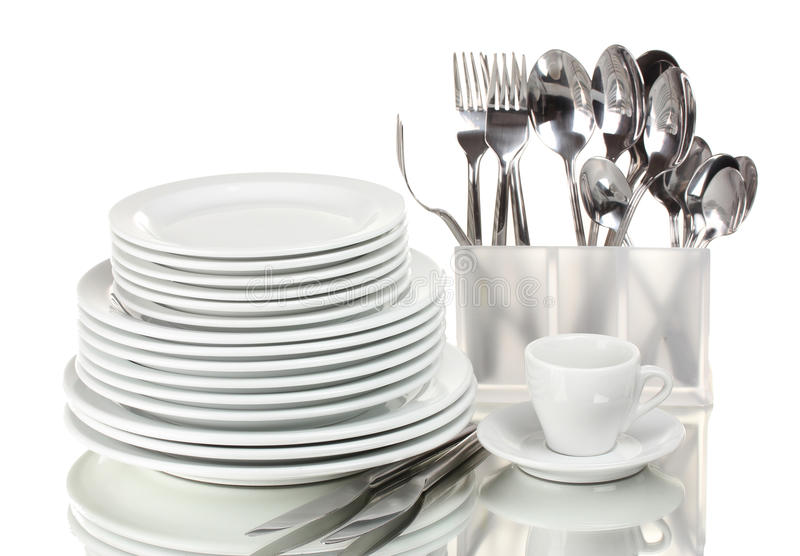 Clean Plates And Cutlery Stock Photos Image 22935953