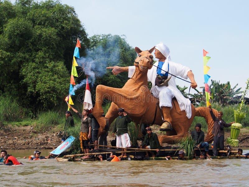 Bengawan Solo Gethek Festival stock image
