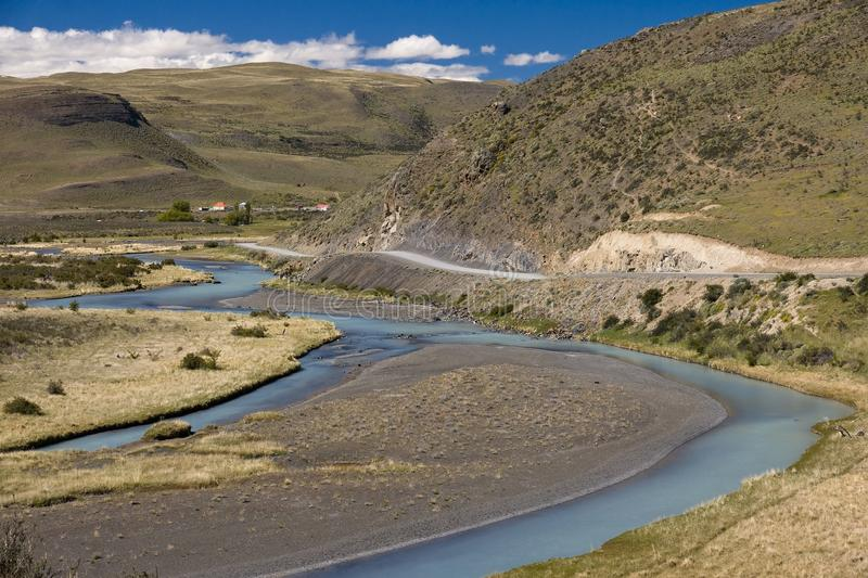 Clean rivers winding among the bare hills.  royalty free stock photos