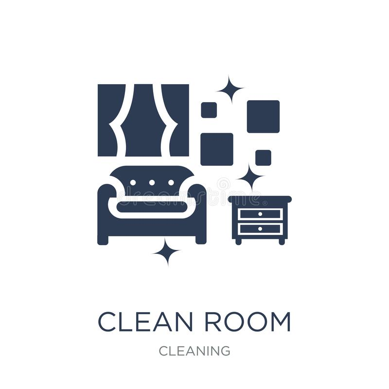 Clean Room icon. Trendy flat vector Clean Room icon on white background from Cleaning collection. Vector illustration can be use for web and mobile, eps10 royalty free illustration