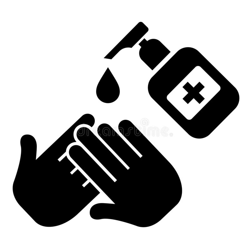 Clean and sanitize your hands vector icon. On white background stock illustration