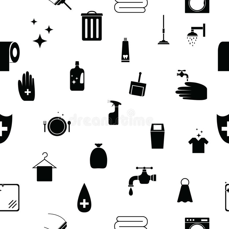 Clean seamless pattern background icon. The clean seamless pattern background icon royalty free illustration
