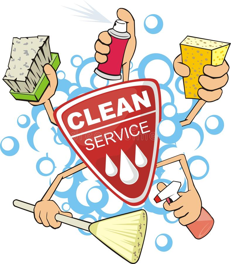 Clean service royalty free illustration