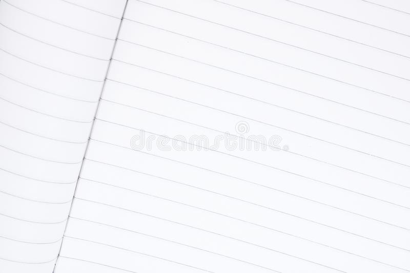 Clean sheet of notebook close up, place for text, school notebook, business notepad, place for recording the test royalty free stock photo