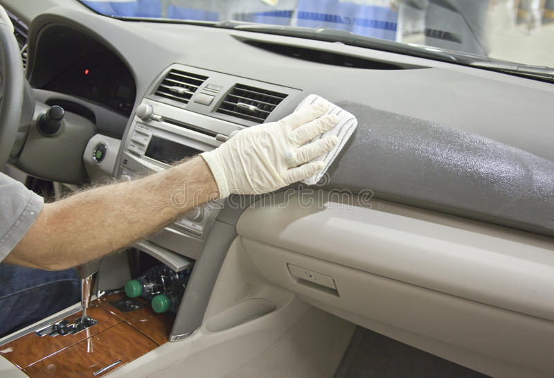 Clean_and_Shine_Auto_Leather_Dashboard royalty free stock image