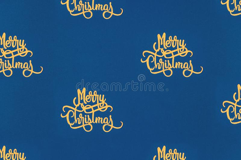 Clean, simple and stylish Christmas card with Christmas wording pattern, ideal for Holiday season corporate formal cards stock illustration