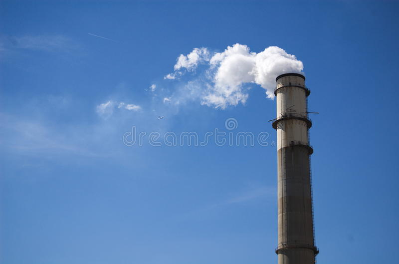 Clean Smoke Stack royalty free stock image