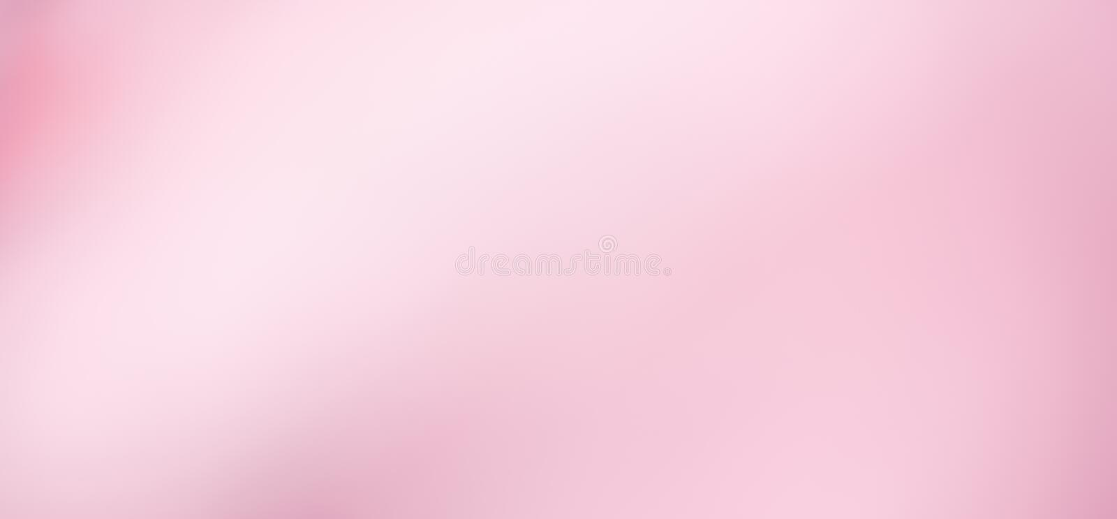 Clean soft Pink background. Wide Angle Light Pink Blur background. Pink and white gradient Texture for Design. Clean soft background. Beautiful Abstract royalty free illustration