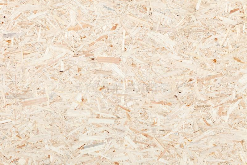 Clean surface of wood particle Board. Texture of compressed wood chippings board. stock image