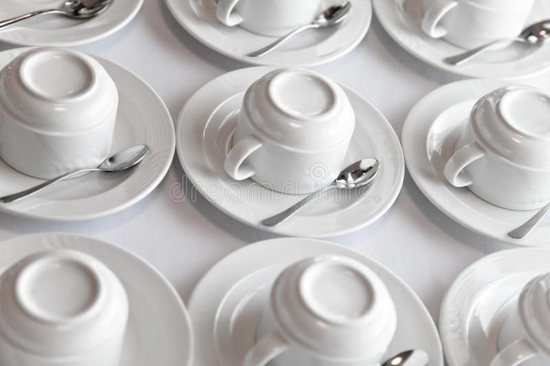 Download Clean tea sets on table stock photo. Image of many, saucer - 25816374