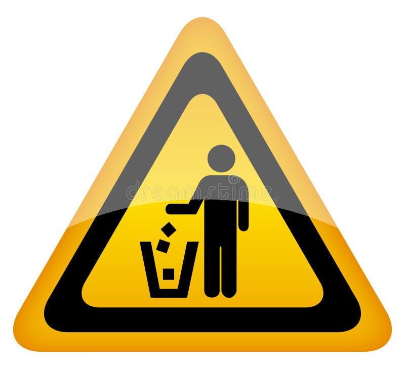 Clean tecken för Keep stock illustrationer