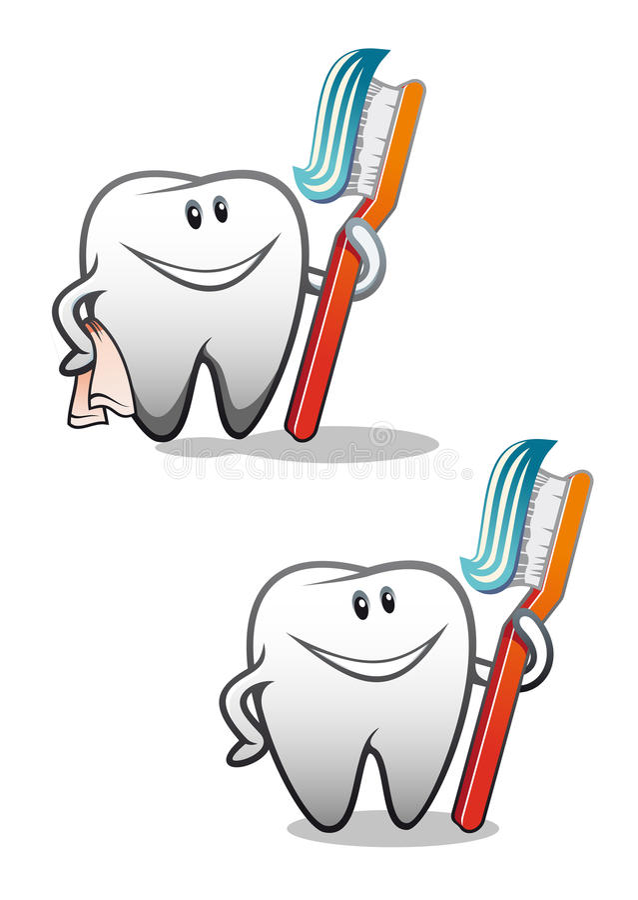 Clean teeth stock photo