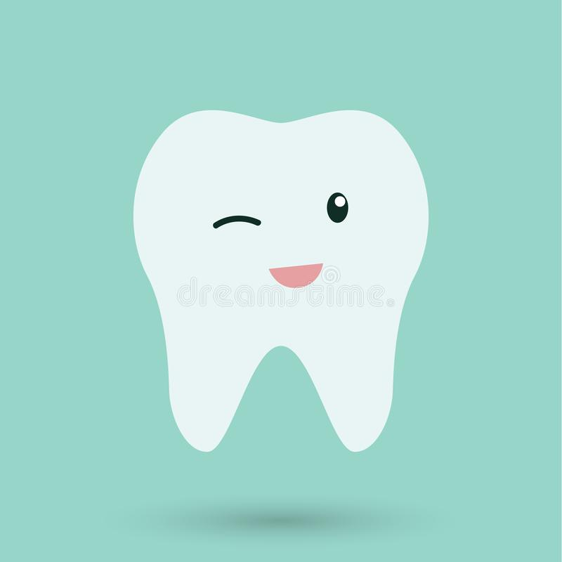 Clean Teeth on blue background icon.  vector illustration