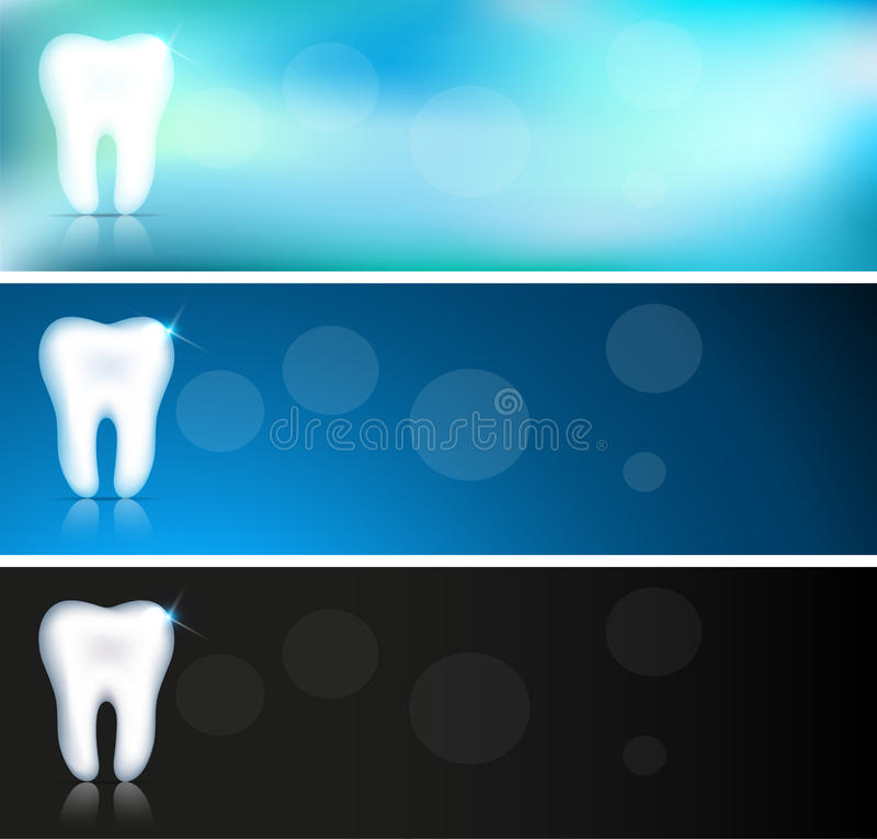 Clean tooth banners vector illustration