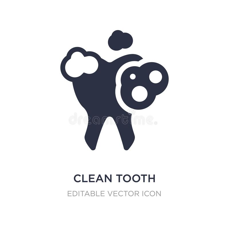 Clean tooth icon on white background. Simple element illustration from Dentist concept. Clean tooth icon symbol design royalty free illustration