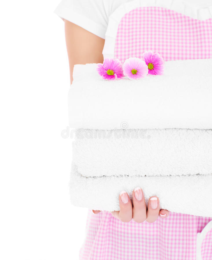 Clean towels royalty free stock image