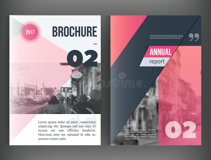 Clean Vector annual report. Brochure template, book cover layout design, Abstract triangle red presentation templates vector illustration