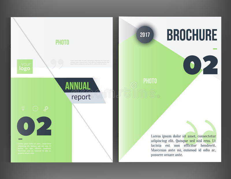 Clean Vector annual report. Brochure template, book cover layout design, Abstract triangle red presentation templates stock illustration