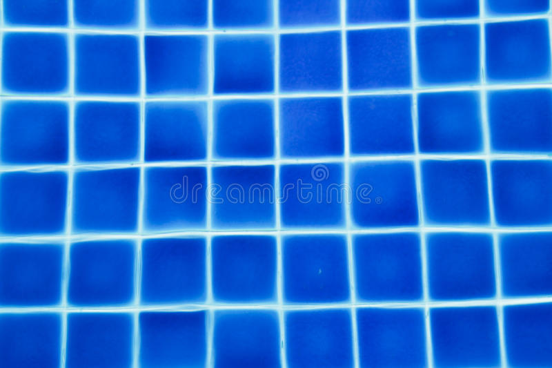 Clean Water In A Blue Swimming Pool Stock Photo